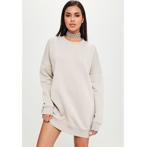Carli Bybel Nude Oversized Sweater Dress